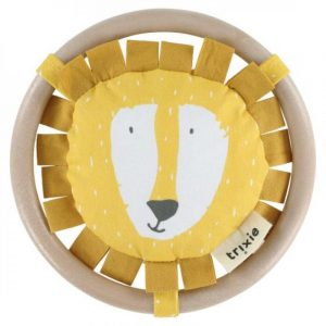 TRIXIE sonajero para niños circulo madera leon