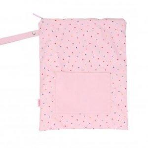 TUTETE bolsa impermeable grande para niños Dot pink